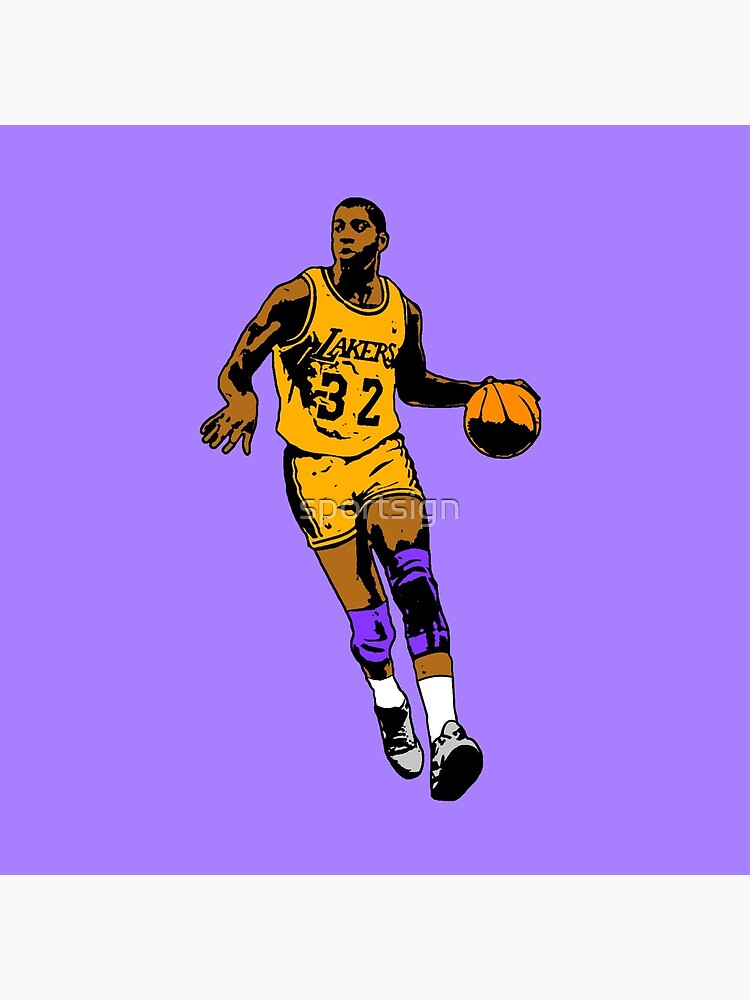 Magic Johnson - Los Angeles Basketball by sportsign
