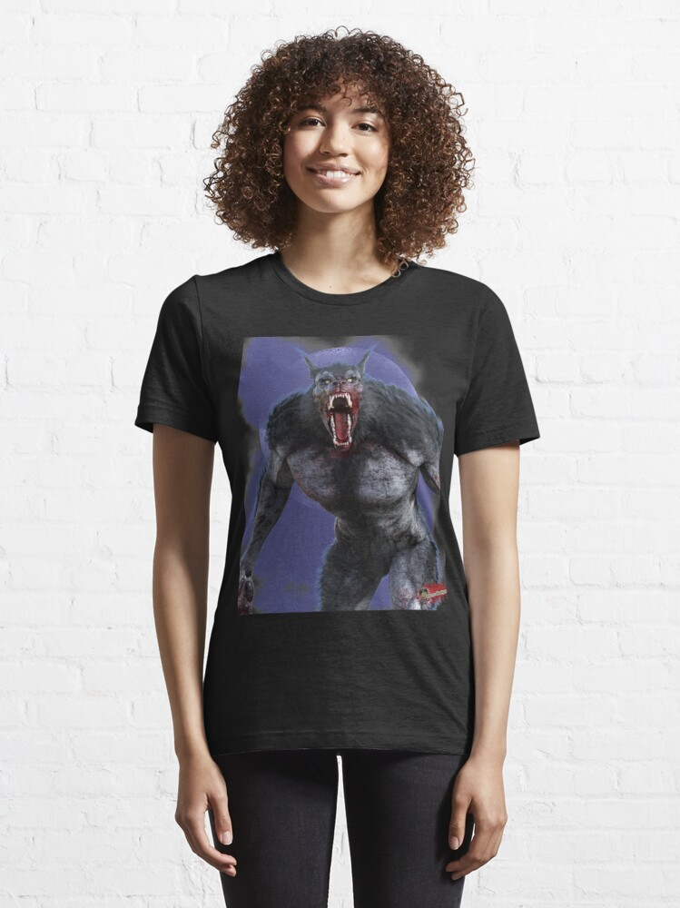 Alternate view of Classic Monsters: Werewolf By Moonlight 3 Slim Fit T-Shirt Essential T-Shirt