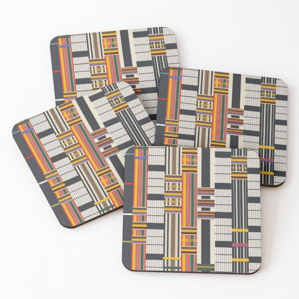 Royal Kente Cloth pattern from Ghana, Africa Coasters (Set of 4)