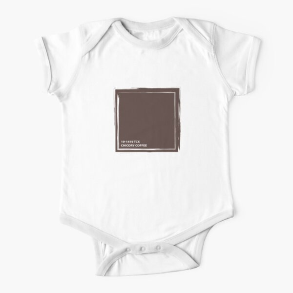 Chicory Coffee 19-1419 TCX | Pantone | Color Trends | London | Fall Winter 2019 2020 | Solid Colors | Fashion Colors | Short Sleeve Baby One-Piece