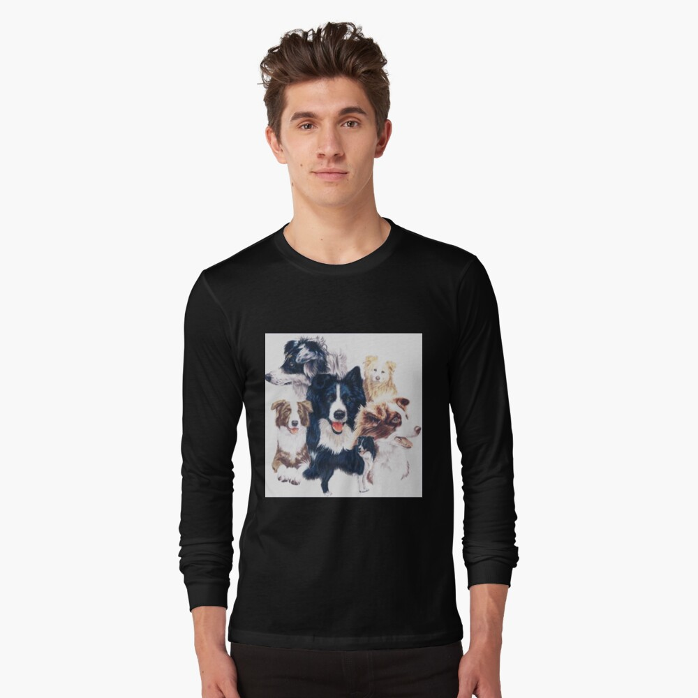 Border Collie Montage Long Sleeve T-Shirt