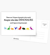 10 Types of People - Dinosaurs Postcards