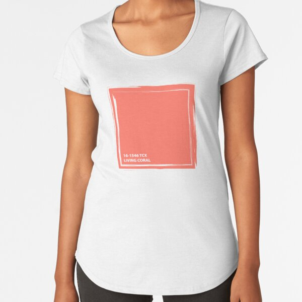 Living Coral 16-1546 TCX | Pantone Color of the Year 2019 | Pantone | Color Trends | New York and London | Solid Color | Fashion Colors |  Premium Scoop T-Shirt