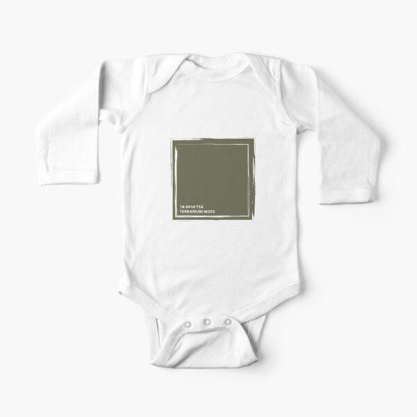 Terrarium Moss 18-0416 TSX | Pantone | Color Trends | New York and London | Spring Summer 2019 | Solid Color | Fashion Colors | Long Sleeve Baby One-Piece