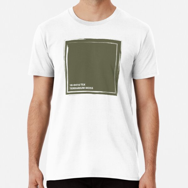 Terrarium Moss 18-0416 TSX | Pantone | Color Trends | New York and London | Spring Summer 2019 | Solid Color | Fashion Colors | Premium T-Shirt