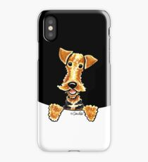 Peeking Airedale Terrier iPhone Case