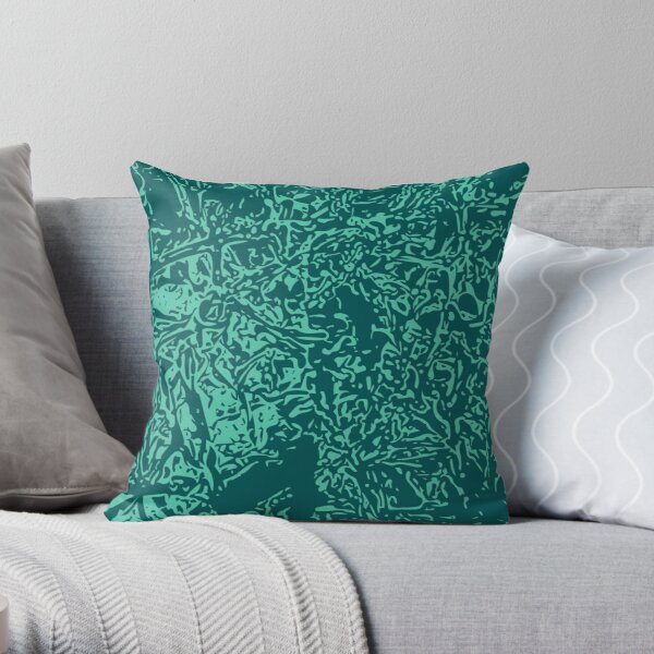 Storm & Biscay Green Throw Pillow