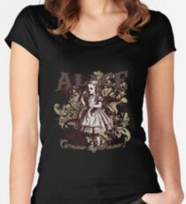 Alice In Wonderland Carnivale Style Women's Fitted Scoop T-Shirt