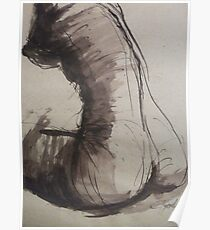 Back Torso - Sketch of a Female Nude Poster