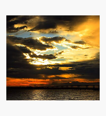 Firery Sunrise Photographic Print