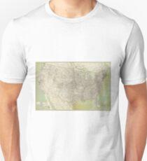 Vintage United States Map (1895) T-Shirt