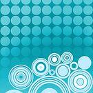 Concentrics - Aqua [iPhone/iPod case] by Damienne Bingham