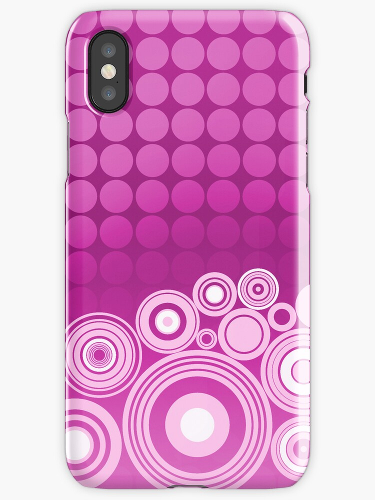Concentrics - Berry [iPhone/iPod case] by Damienne Bingham