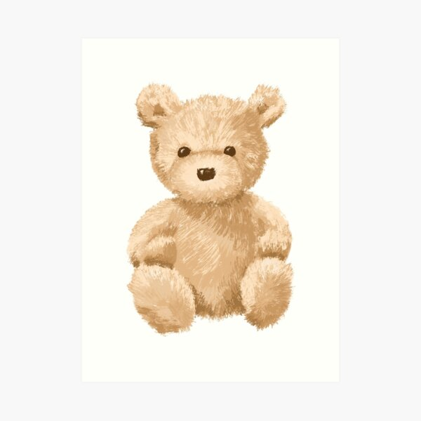 Cute Teddy Bear Art Print