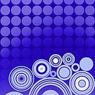 Concentrics - Blue [iPhone/iPod case] by Didi Bingham
