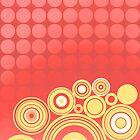 «Concentrics - Red Orange [iPhone/iPod case]» de Didi Bingham