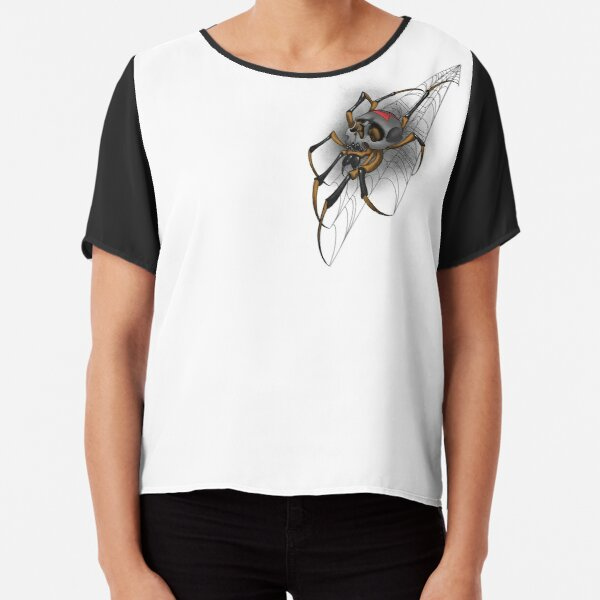 Along came a spider Chiffon Top