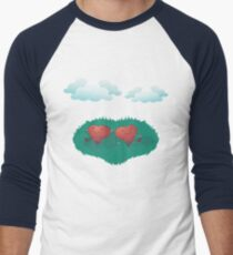 HEARTS IN THE CLOUDS Men's Baseball ¾ T-Shirt