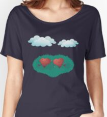 HEARTS IN THE CLOUDS Women's Relaxed Fit T-Shirt