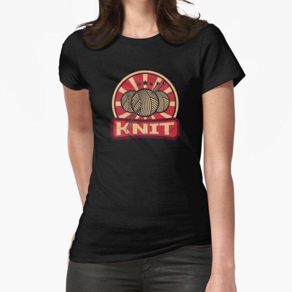 Knitting propaganda Fitted T-Shirt
