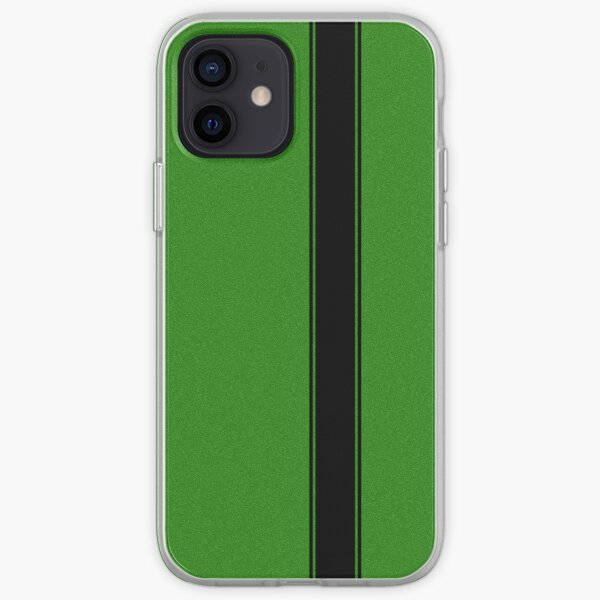 Racing Stripe - Black on Green Flake iPhone Soft Case