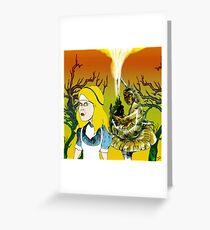 Alice and the Hookah Smoking Caterpillar part 2 Greeting Card
