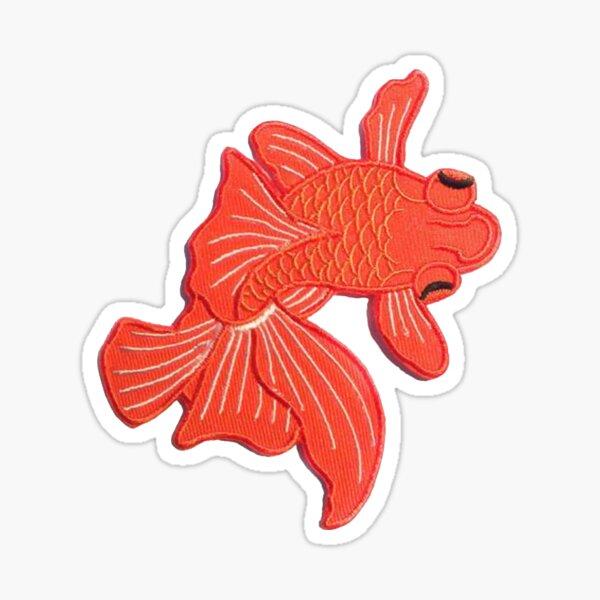 Japanese Orange Koi Fish Sticker