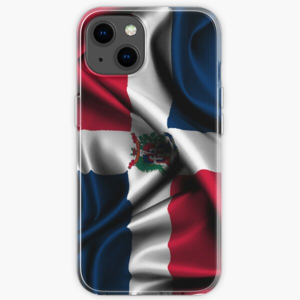 Dominican Republic Flag Drop iPhone Soft Case
