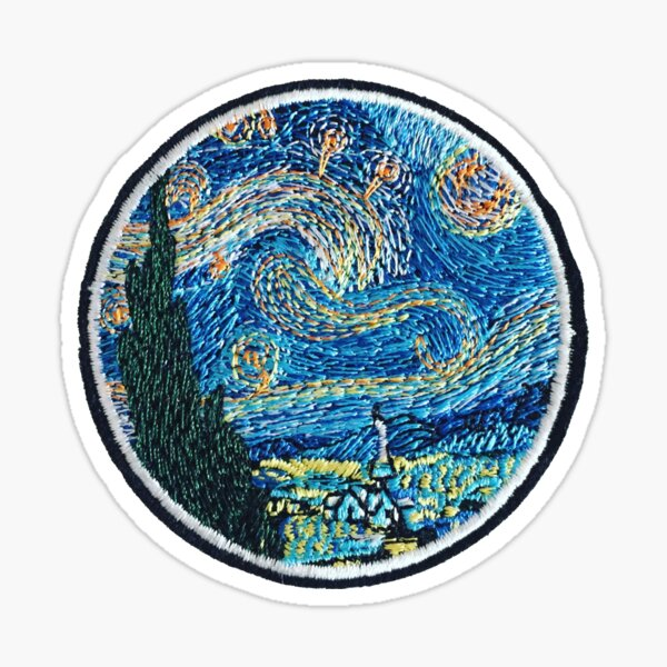 Van Gogh Impressionist Patch Sticker