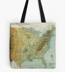 Vintage United States Physical Features Map (1915) Tote Bag
