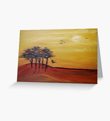swinging in the breeze Greeting Card