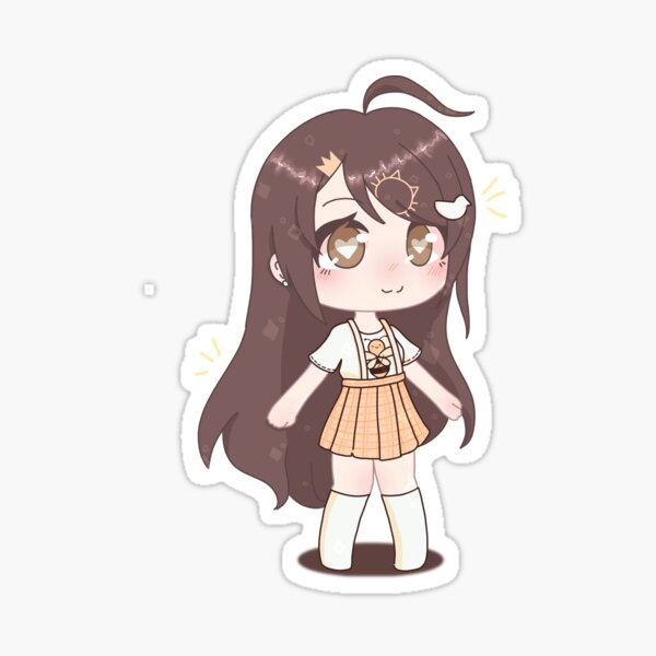 Decal Cute Anime Girl Roblox Id Gacha Stickers Redbubble