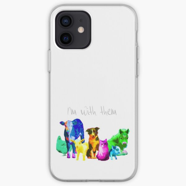 I'm With Them - Animal Rights - Vegan iPhone Soft Case