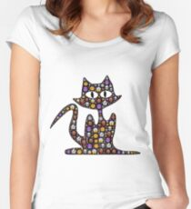 Halloween cat Women's Fitted Scoop T-Shirt