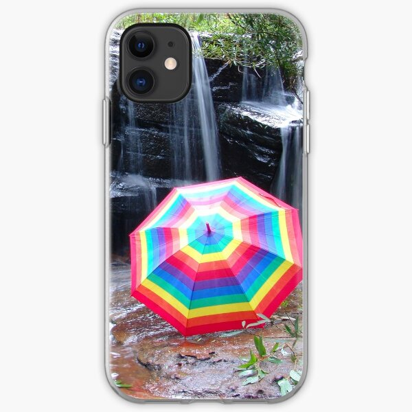 Kelly Falls with umbrella iPhone Soft Case