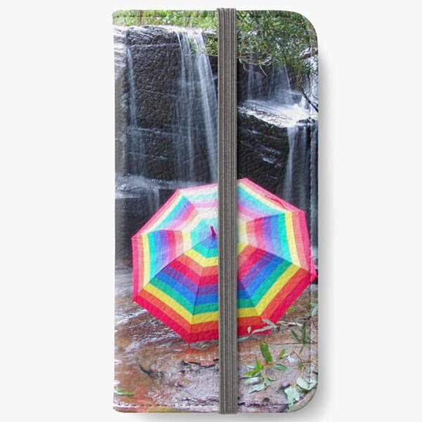 Kelly Falls with umbrella iPhone Wallet