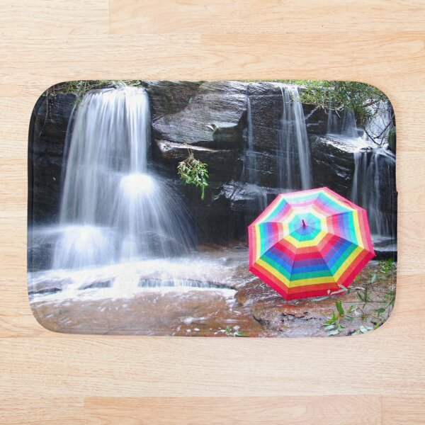 Kelly Falls with umbrella Bath Mat
