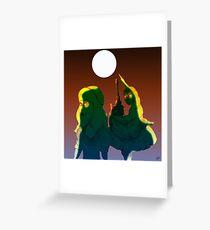 Alice and the Hookah Smoking Caterpillar part 3 Greeting Card