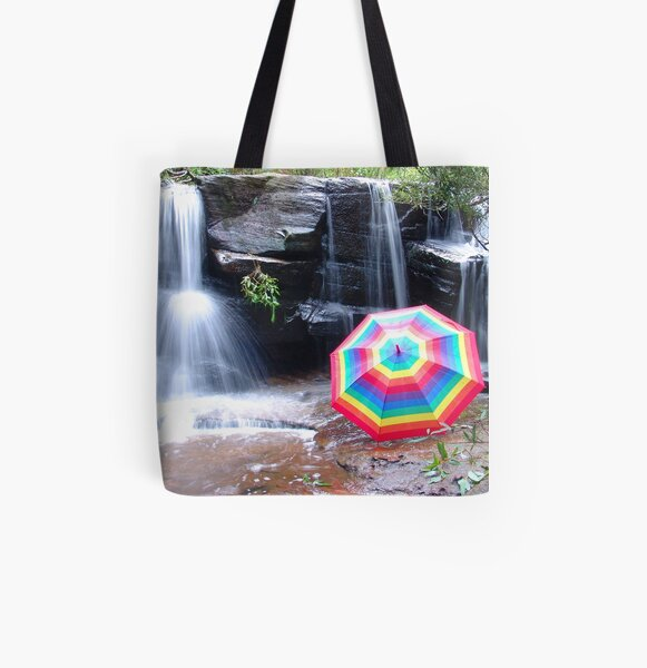 Kelly Falls with umbrella All Over Print Tote Bag