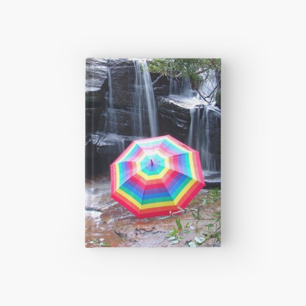 Kelly Falls with umbrella Hardcover Journal
