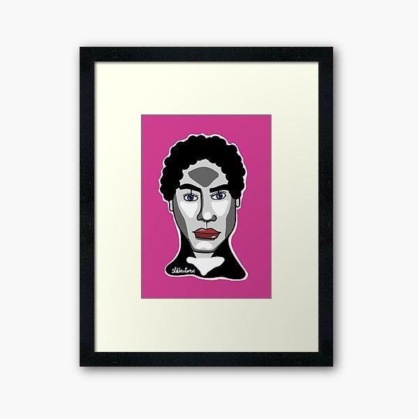 Hot Pink man Framed Art Print