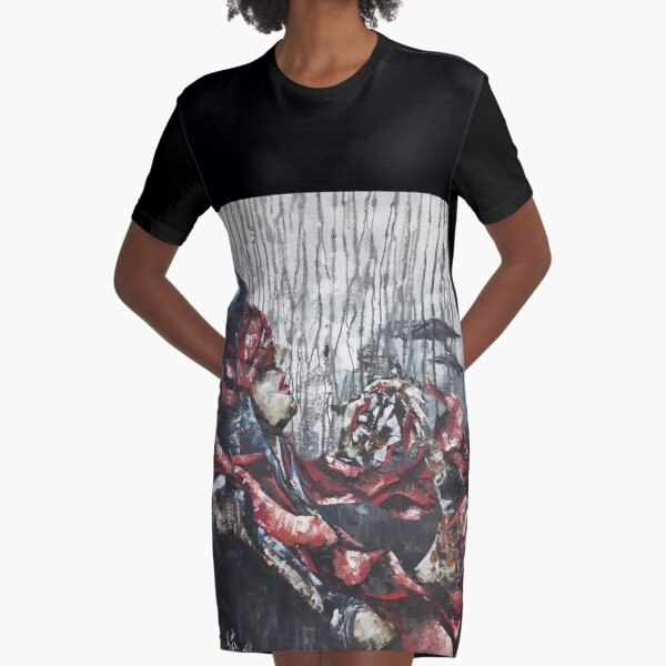 Abstract portrait of woman Graphic T-Shirt Dress