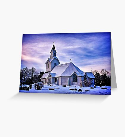 Sugar-coated church Greeting Card