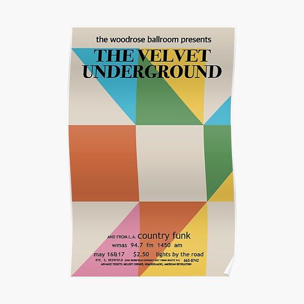 Velvet Underground Vintage 1960s woodrose ballroom Promo Poster  Poster