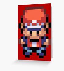 Red Overworld Sprite Greeting Card