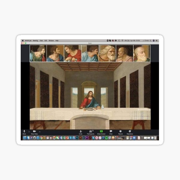 Last Supper Zoom Call Meme Sticker