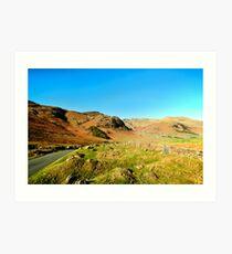 Road Through The Valley Art Print