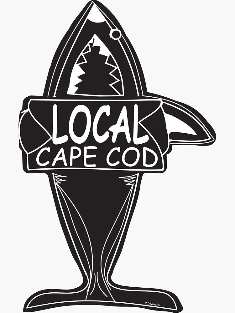 Local Cape Cod Shark Sticker by DApixara