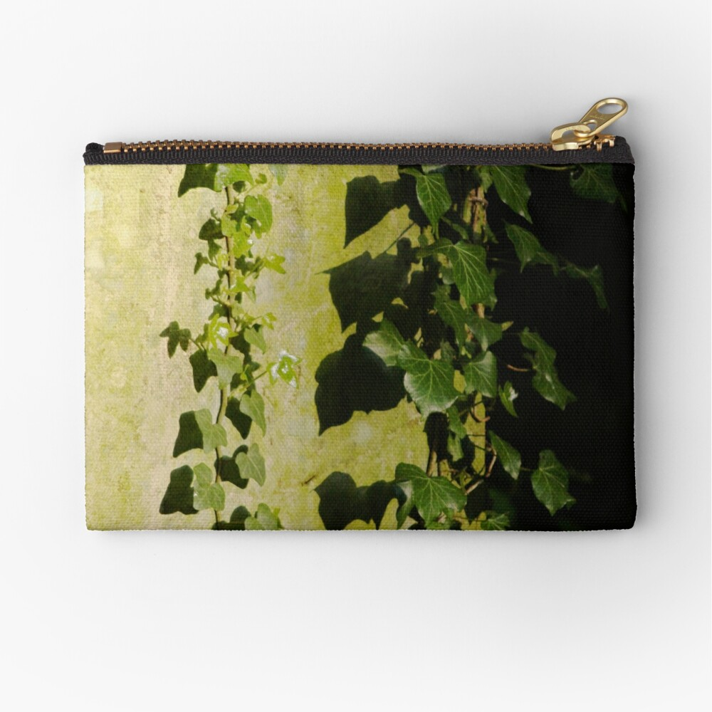 Trailing ivy on grave Zipper Pouch