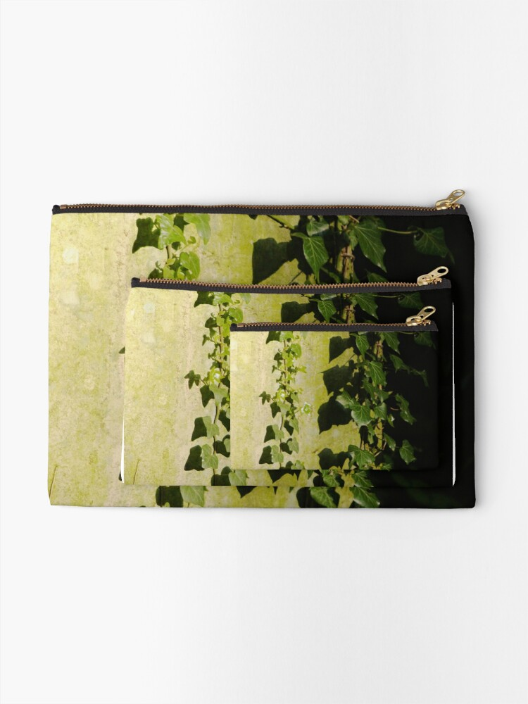 Alternate view of Trailing ivy on grave Zipper Pouch